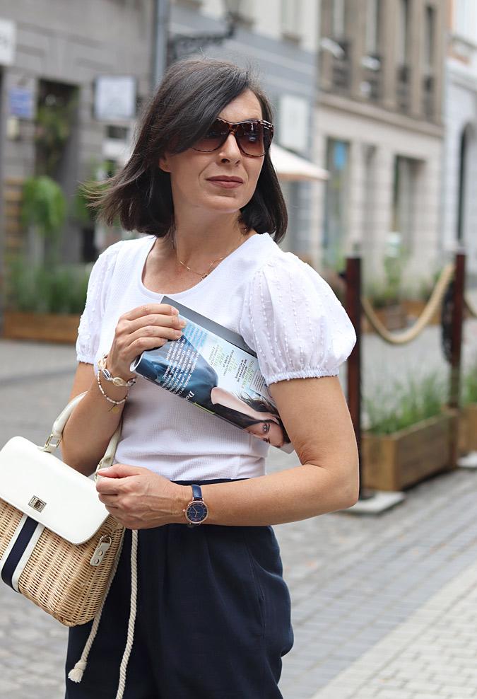 bluzki z bufkami stylizacje