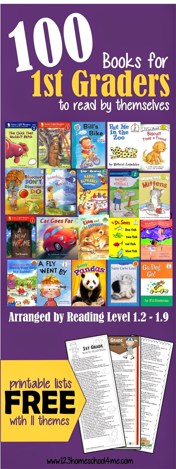 Worksheet First Grade Free Books 100 books for first graders to read themselves by reading level