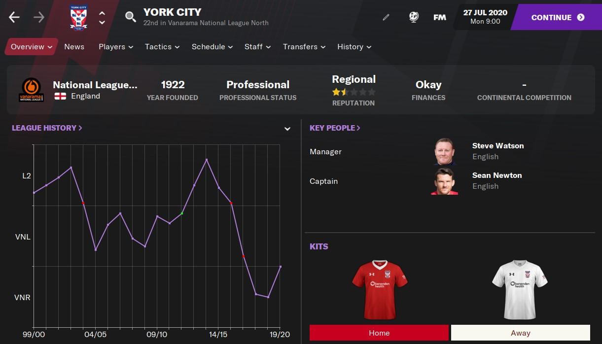 York City Football Manager 2021
