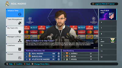PES 2019 UEFA Champions League & Europa League Press Room by Ginda01
