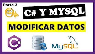 Modificar datos c# y MySql