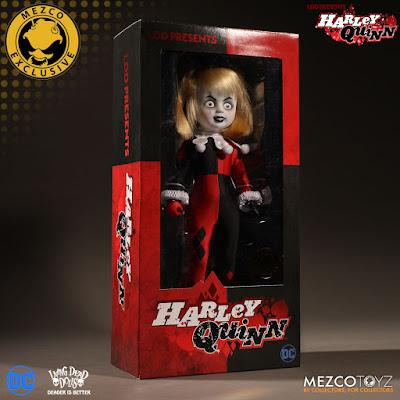 San Diego Comic-Con 2017 Exclusive Harley Quinn Unmasked Living Dead Dolls by Mezco Toyz x DC Comics