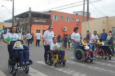 Desfile Cívico de 7 de Setembro na Copacabana homenageou  inclusão das pessoas com deficiência