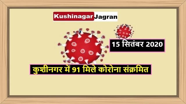 कुशीनगर में 91 मिले कोरोना संक्रमित, 82 लोग हुए ठीक
