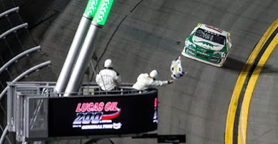 Venturini Motorsports driver Michael Self took the checkered flag last night at Daytona International Speedway.