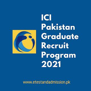 ici pakistan graduate recruit program 2021