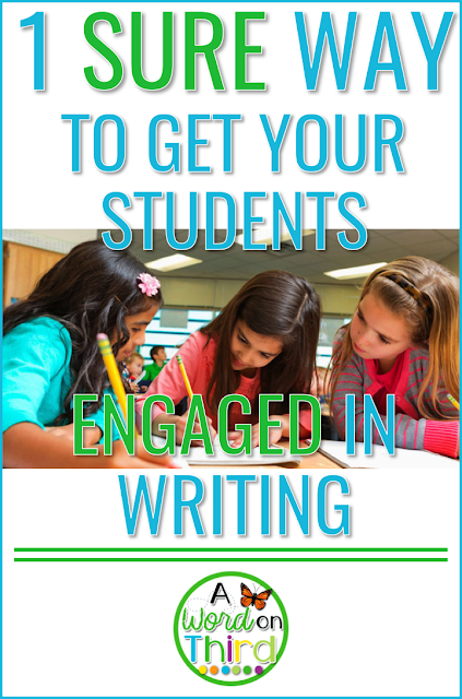 1 Sure Way To Get Your Students Engaged In Writing: writing classroom news with A Word On Third