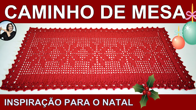 CAMINHO NATAL CROCHE CURSO EDINIR CLUB YOUTUBE PINTEREST FACEBOOK INSTAGRAM