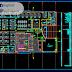 مخطط طابق ارضي مبنى اداري اوتوكاد dwg