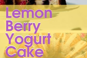 Lemon Berry Yogurt Cake