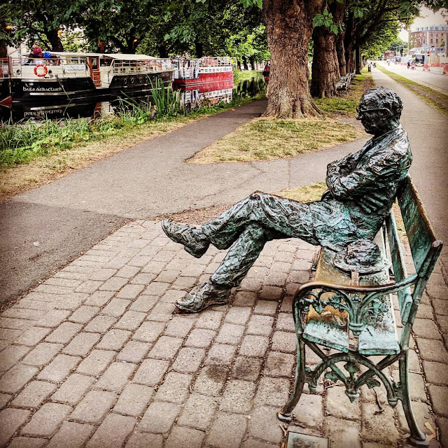 Dublin in a Day Itinerary: Patrick Kavanagh statue on the Grand Canal