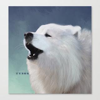 tybor-howling-samoyed-canvas