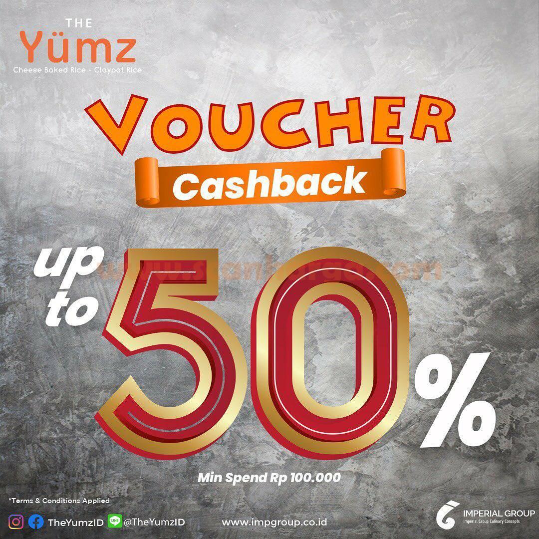 Promo THE YUMZ GRATIS Voucher Cashback 50% dengan Min. Transaksi 100K