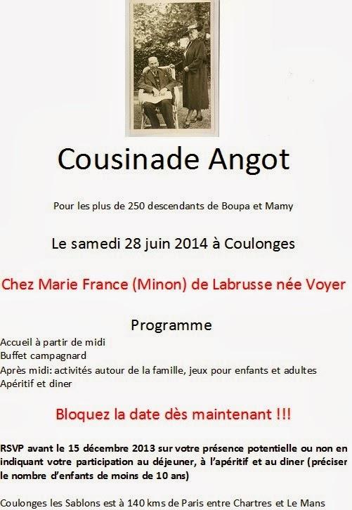 Cousinade Angot Invitation