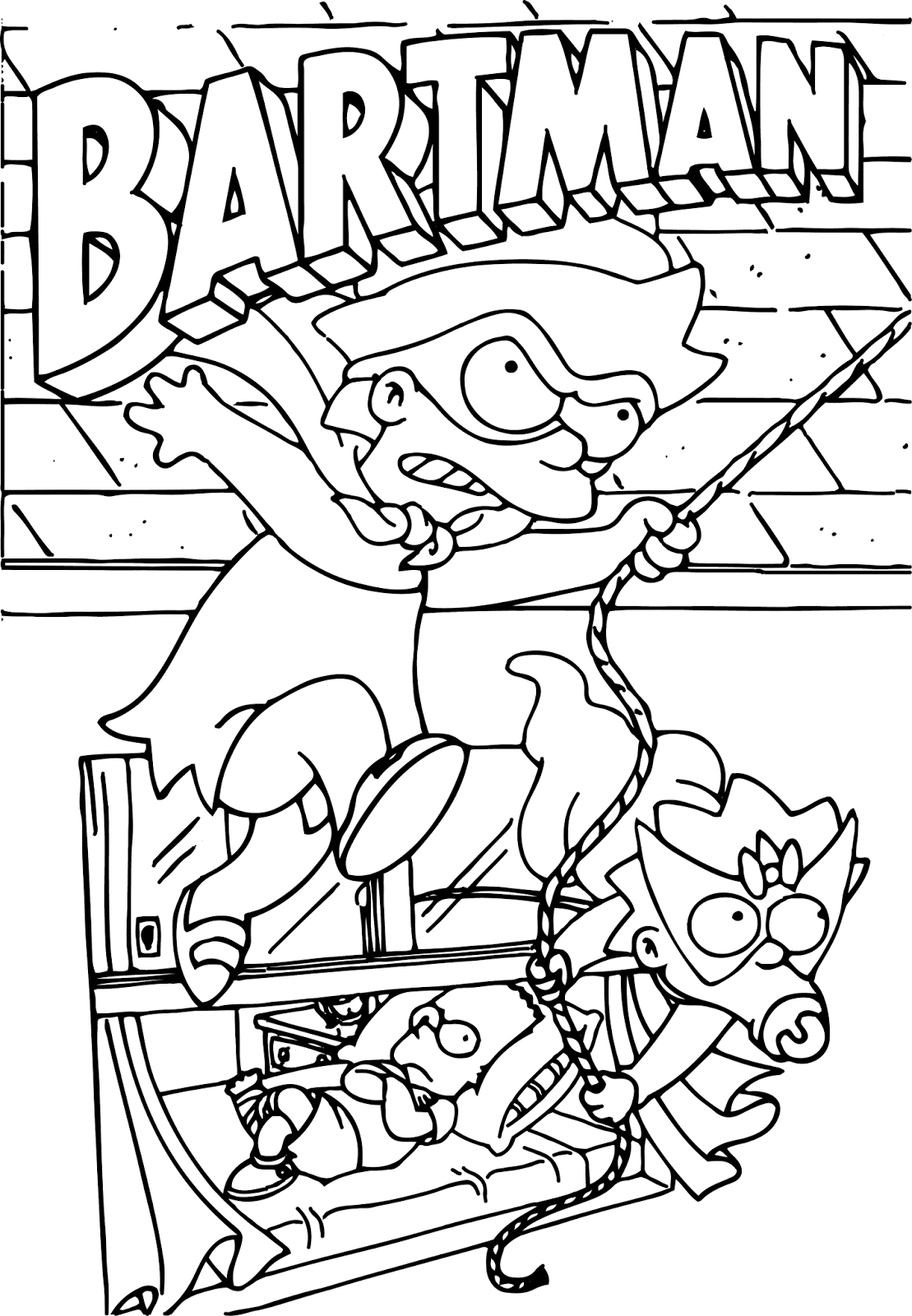 bartman simpsons coloring pages - photo#2