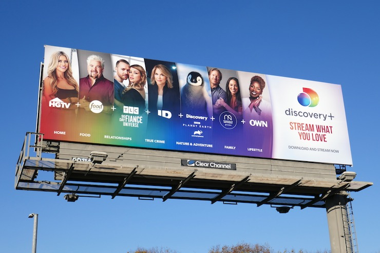 Discovery Plus launch billboard