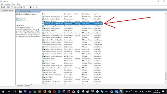 """""""Windows Font Cache Services"""""""