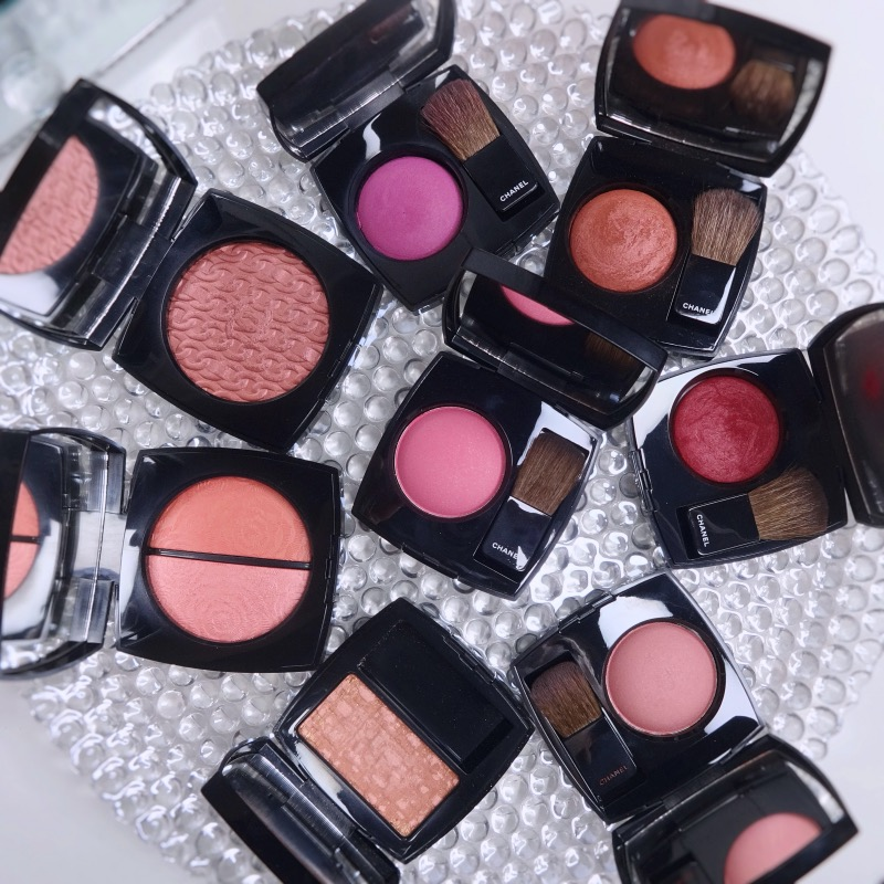 Chanel blush swatches