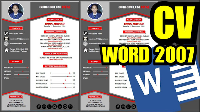 Free Download Template CV Kreatif Word bahasa Indonesia ...