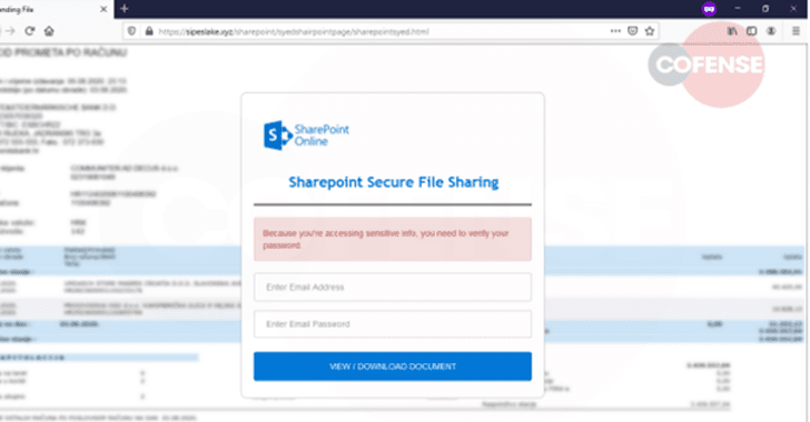 Phishing Campaign SharePoint Documents