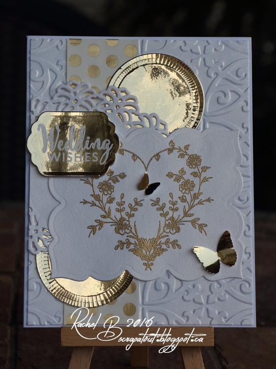 Scrapatout - Handmade card, wedding, Verve stamps, Spellbinders dies, Spellbinders Embossabilities