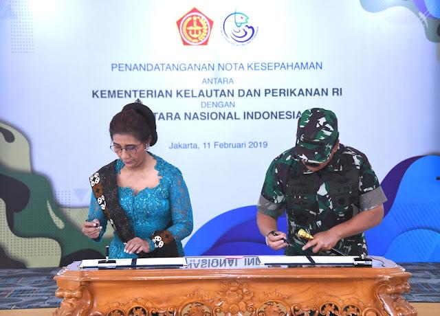 Teken MoU Tandai Sinergi TNI – KKP Amankan Kekayaan Laut Indonesia