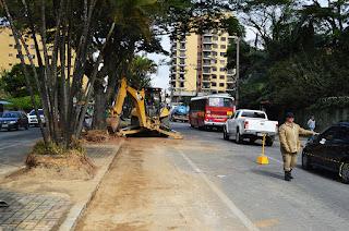 Remodelação do canteiro central na Reta em Teresópolis