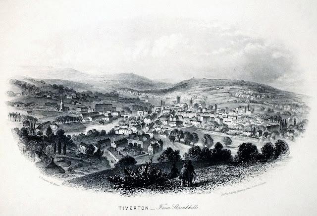 Illustration of Tiverton from Skrinkhills (1862)