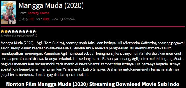 Nonton Film Mangga Muda (2020) Lengkap Link Terbaru 2021