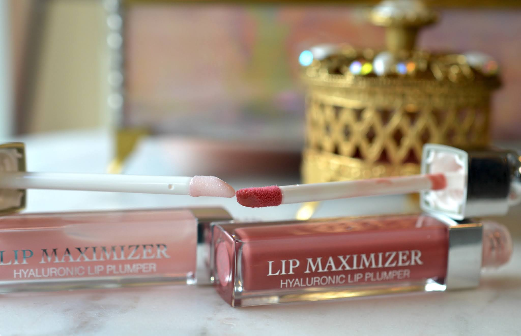 Dior Lip Maximizer Gloss in 001 Light Pink and 012 Rosewood