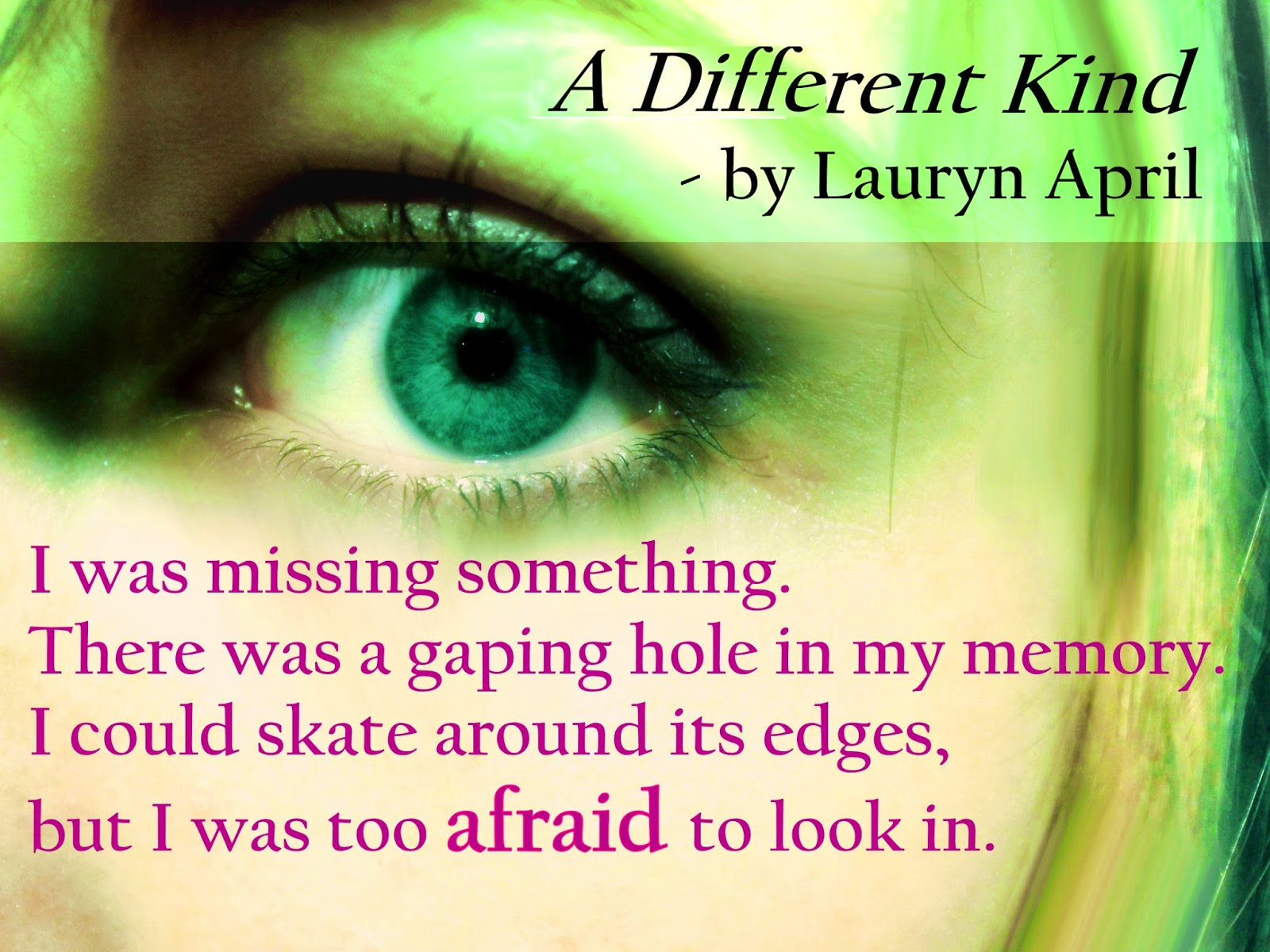 Lauryn April Writes: A Different Kind Now Available