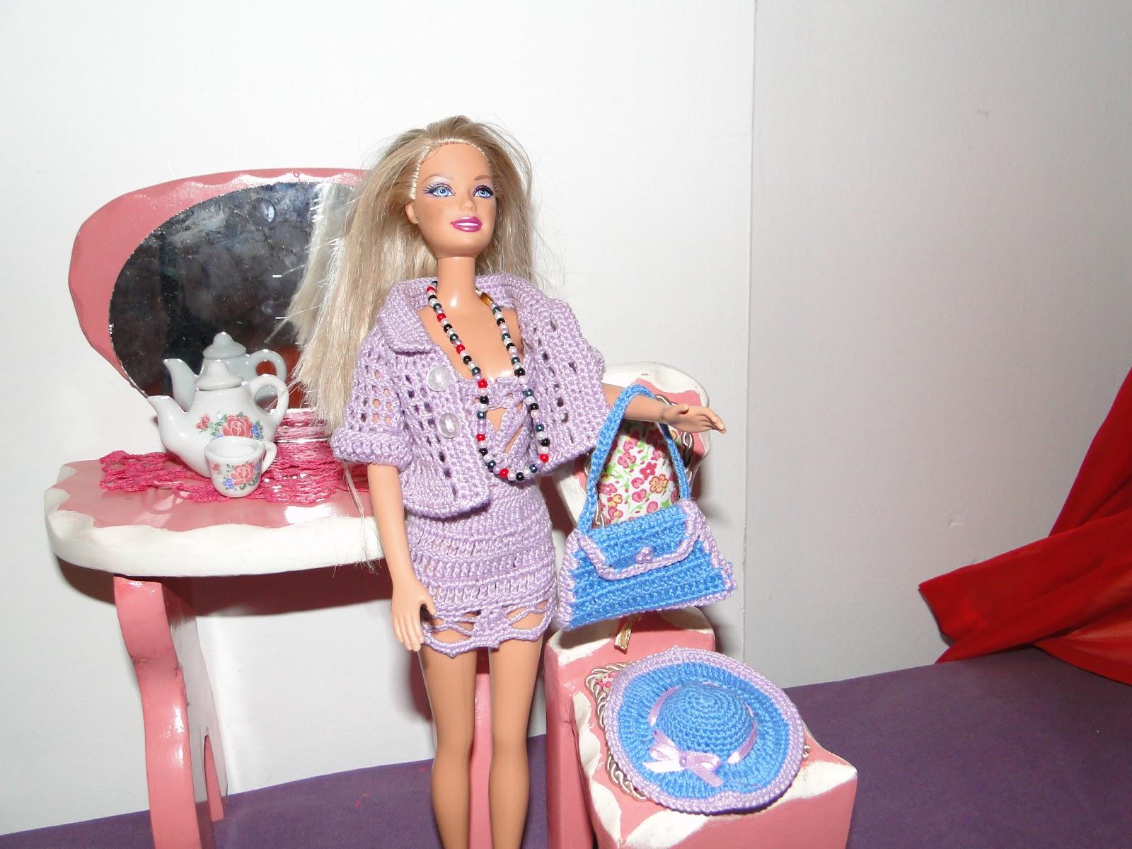 Barbie Crochê Miniaturas Artesanato e Coisas Mais: Minhas Roupinhas  #1868B3 1600 1200