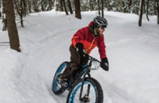 Riding a fat bike in Marquette