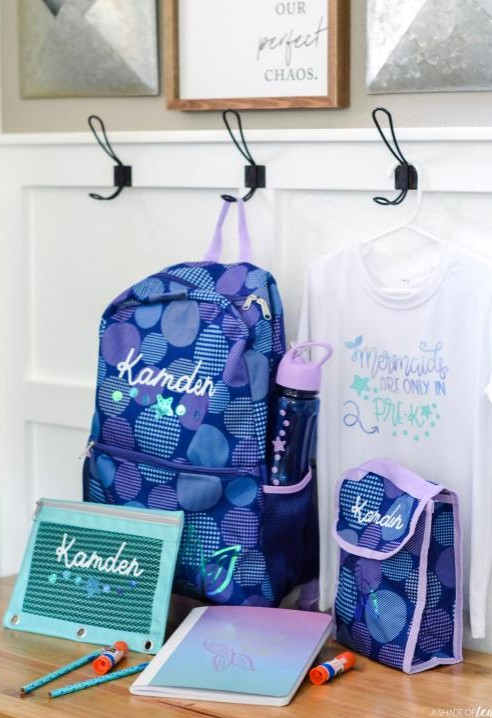 tutorial to personalize and monogram back to school gear