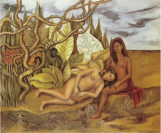 Фрида Кало - Две обнаженные в лесу (Сама Земля). 1939