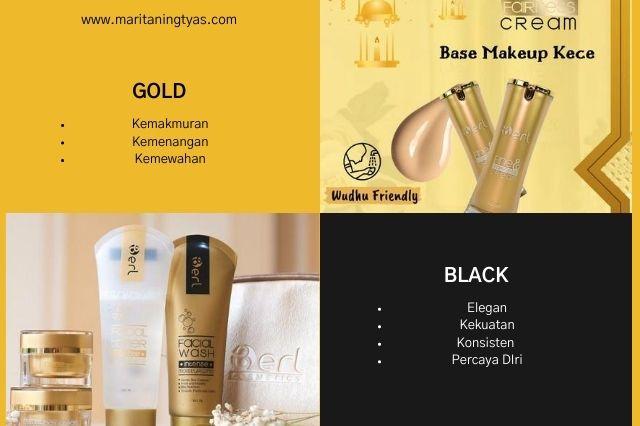 filosofi warna emas dan hitam B ERL Cosmetics