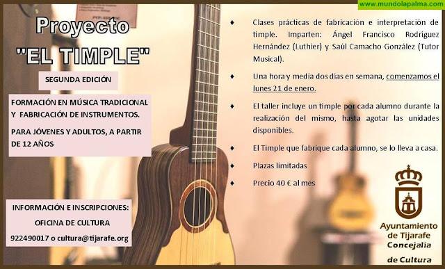 """Formación en música tradicional y fabricación de instrumentos """"El Timple"""" en Tijarafe"""