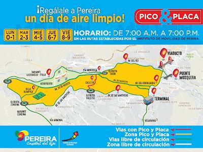 Pico y Placa Pereira - 2019