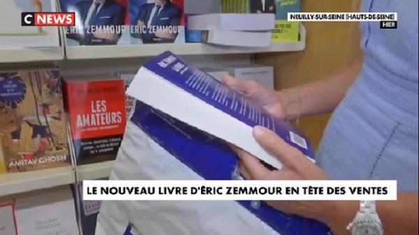 [VIDEO] LE NOUVEAU LIVRE D'ERIC ZEMMOUR EN TÊTE DES VENTES