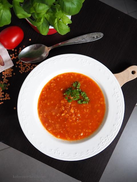 zupa poidorowa z soczewicą