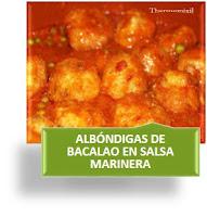 ALBÓNDIGAS DE BACALAO EN SALSA MARINERA
