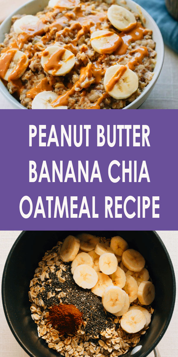 The ultimate healthy breakfast recipe, this peanut butter banana oatmeal is creamy, voluminous and will keep you full all morning long! Plus it only takes about 10 minutes to make. #oatmeal #oatmealrecipes #healthy #breakfast #healthybreakfast