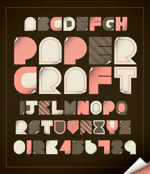 Paper Craft Vector Alphabet