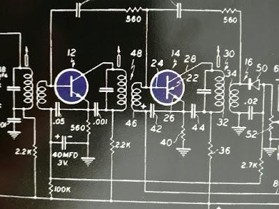 Circuito electronico con transistores