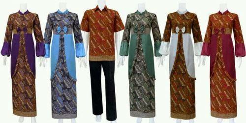 Contoh model baju batik muslim masakini