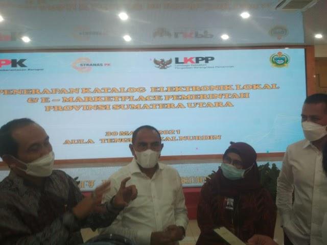 KPK Dorong Pemprov Sumut Sosialisasikan Belanja Sistem Katalog-Elektronik