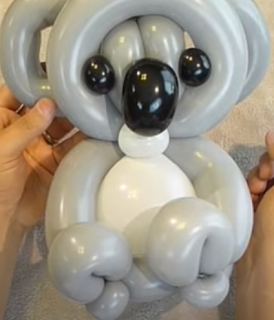 Koalabär aus Luftballons getwistet.