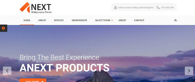 Best Responsive Blogger Templates For Portfolio, Agency, CV, Company & Enterprise Websites Anext 1