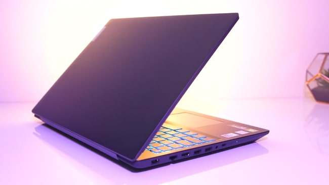 All plastic build of Lenovo IdeaPad L340 laptop.