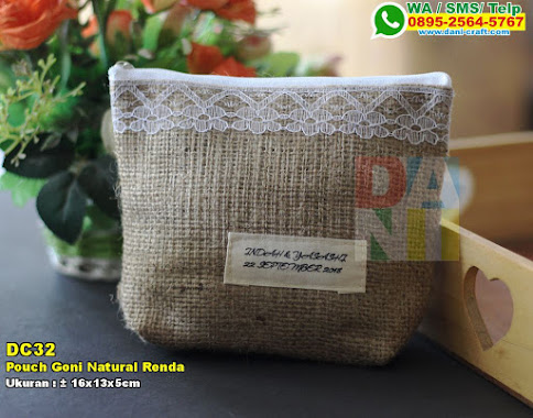Pouch Goni Natural Renda